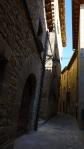 The narrow winding alleys of Sos, taken on Calle Gil de Jaz - Sos del Rey Catolico, Spain