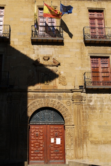 The entrance to the Sos Town Hall, taken onTown square - Sos del Rey Catolico, Spain