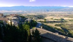 View over the Onsella Valley, taken from Sos old town - Sos del Rey Catolico, Spain