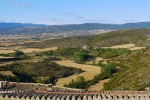 View across the brown and yellow Onsella Valley - Sos del Rey Catolico, Spain