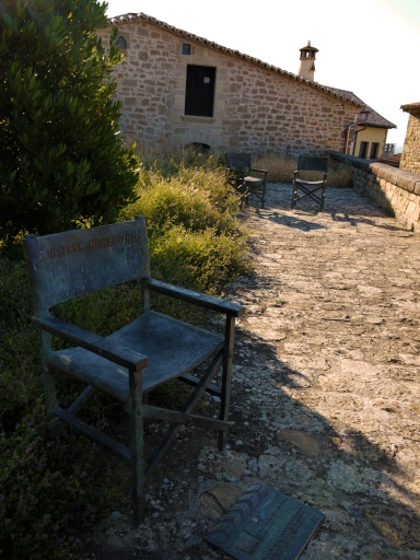 Director's chair in honour of La Vaquilla, which was filmed in the town - Sos del Rey Catolico, Spain
