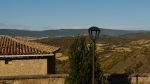 View across the surrounding countryside, with lamp post in the foreground - Sos del Rey Católico, Spain
