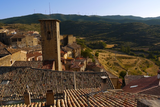 View across the rooftops and surrounding hills - Sos del Rey Católico, Spain