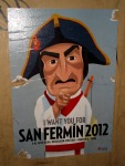 2012 poster calling people for the festival - San Fermín - Pamplona, Spain (1)