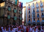 Crowd in front of the Town hall on Town hall square - San Fermín - Pamplona, Spain (6)