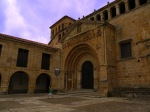The historical entrance to St.Juliana Church on Stones' square - Santillana del Mar, Spain