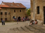 A couple taking a breather against St. Juliana Church - Santillana del Mar, Spain (20)