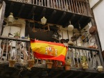 Spanish flag hanging from a balcony, taken on Calle de Juan Infante - Santillana del Mar, Spain (21)