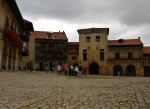 Groups of tourists on Ramón Pelayo square - Santillana del Mar, Spain (22)
