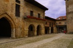 Medieval arches on Ramon Pelayo square - Santillana del Mar, Spain (3)