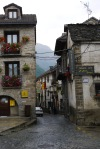 Rain-swept streets and Post Office, taken on Calle Travecinal - Torla, Spain (9)