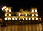 Illuminated Leon Old Town Hall on Main square at night - Leon, Spain (11)