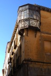 Bay windows sitting on buildings corner - Leon, Spain (25)
