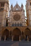 Western façade of Leon Cathedral, taken from Calle Sierra Pambley - Leon, Spain (30)