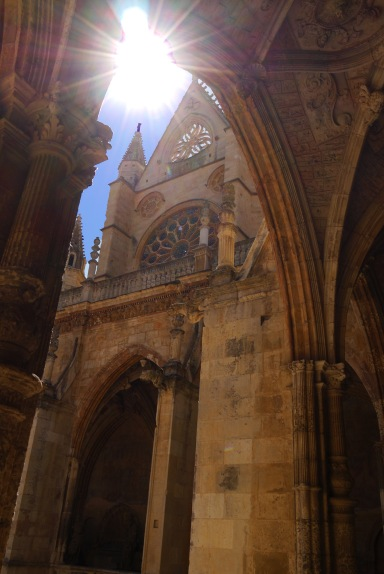 Leon Cathedral, seen from under an arch - León, Spain (34)