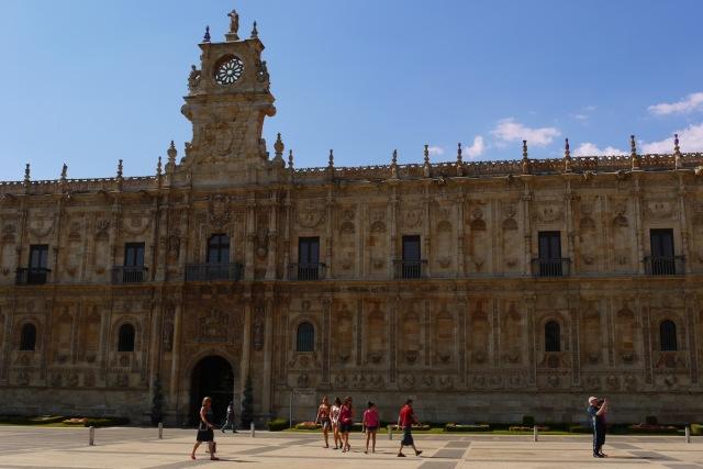 The main façade of Convent of San Marcos, National Parador - León, Spain (38)