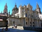 The northern façade of the Santiago de Compostela Cathedral - Santiago de Compostela, Spain