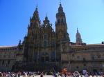 The main entrance to the Santiago de Compostela Cathedral - Santiago de Compostela, Spain