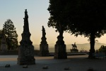 The eery Square of the Evangelists in the shadows of the setting sun, taken at Bom Jesus do Monte Sanctuary - Braga, Portugal (62)