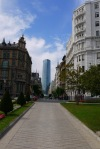 The glass Iberdrola Tower, as seen from Moyua square - Bilbao, Spain (16)