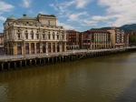 Bilbao waterfront with Arriaga Theatre and the Nervión river, taken from Bridge of Quicksand - Bilbao, Spain (20)