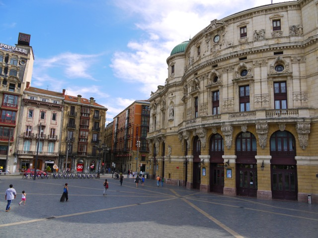 The main entrance to Arriaga Theatre, taken on Arriaga square - Bilbao, Spain (24)