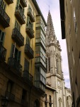 The spire of St. James' Cathedral, taken from Bidebarrieta Kalea - Bilbao, Spain (32)