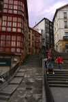 People resting at the foot of the Mallona steps, taken from Miguel of Unamuno square - Bilbao, Spain (39)