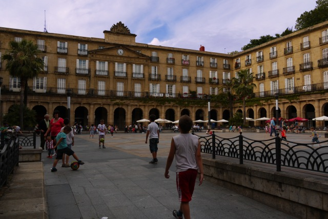 View across New square and Royal Academy of the Basque language - Bilbao, Spain (45)