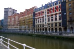 Colourful buildings on the bank of the Nervion River, taken from Ribera Kalea - Bilbao, Spain (51)