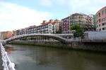 View along the Nervion River to Ribera Bridge, taken on Ribera Kalea - Bilbao, Spain (53)