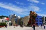 The Guggenheim Museum with Puppy (1992) by Jeff Koons, taken from Mazarredo Aldapa - Bilbao, Spain (71)