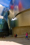 Close up of the entrance to the Frank Gehry designed Guggenheim Museum - Bilbao, Spain (74)