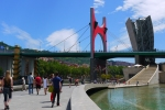 "La Salve Bridge with spider sculpture ""Maman"" (1999) by Louise Bourgeois, next to the Guggenheim Museum, as seen from Campa de los Ingleses Kaia - Bilbao, Spain (85)"