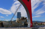 La Salve Bridge and The Guggenheim Museum with Iberdrola Tower in the background - Bilbao, Spain (100)