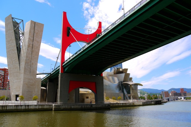 La Salve Bridge with The Guggenheim Museum in the background - Bilbao, Spain (102)