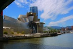 """View across the River Nervion of the Guggenheim Museum and spider sculpture """"Maman"""" (1999) by Louise Bourgeois - Bilbao, Spain (104)"""