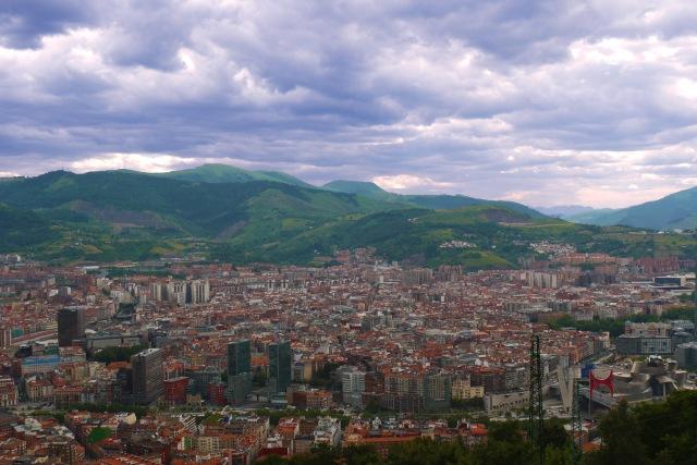 View across the city of Bilbao, as seen from Mount Artxanda - Bilbao, Spain (106)