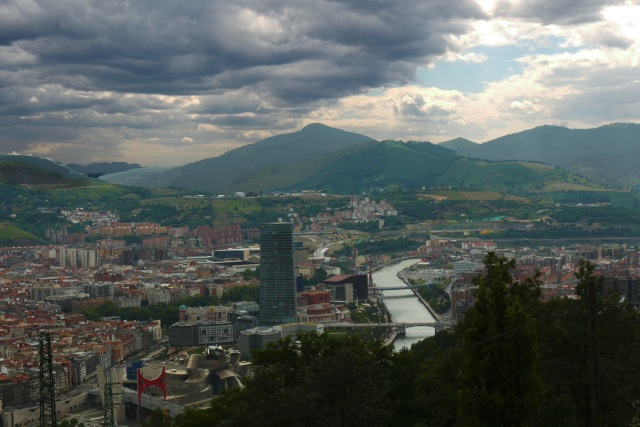 View of riverside Bilbao and the River Nervion, taken from Mount Artxanda - Bilbao, Spain (107)