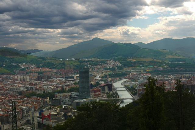 View of riverside Bilbao and the River Nervion, taken from Mount Artxanda - Bilbao, Spain (107)