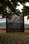 "Iron monument in memory of the Spanish Civil War, ""La Huella"" by Juanjo Novella, on top of Mount Artxanda - Bilbao, Spain (115)"