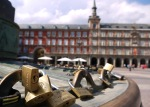 Padlocks attached to the fence of the statue of Felipe III, taken on Plaza Mayor - Madrid, Spain (17)