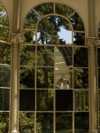 Glass window in the Crystal Palace, inside Retiro park - Madrid, Spain (98)