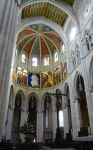 Inside Almudena Cathedral, view from the central nave - Madrid, Spain (54)