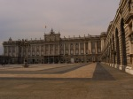 Façade and main courtyard of the Royal Palace of Madrid, as seen from Armoury square - Madrid, Spain (64)