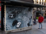 Street art on the back of a kiosk, taken on Calle de Atocha - Madrid, Spain (65)