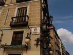 The corner of Plaza de Isabel II with tiled street signs - Madrid, Spain (70)