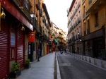 A quiet Calle Cava Baja with motorcyclist - Madrid, Spain (74)