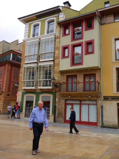Interesting buildings on Constitution Square - Oviedo, Spain (21)