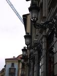 Ornate street lamps on Calle de la Rúa - Spain (30)